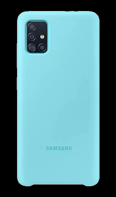 Чехол-крышка Samsung PA515TBEGRU для Galaxy A51, силикон, голубой фото