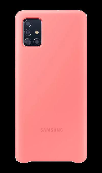 Чехол-крышка Samsung PA515TBEGRU для Galaxy A51, силикон, розовый фото