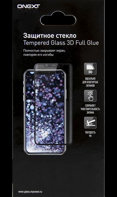 Защитное стекло One-XT для Samsung Galaxy A71 3D Full Glue (черная рамка) фото
