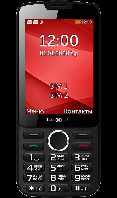 Телефон Texet TM-308 Black Red