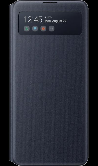 Чехол-книжка Samsung S View Wallet Cover EF-EN770PBEGRU для Galaxy Note 10 Lite, полиуретан, черный фото