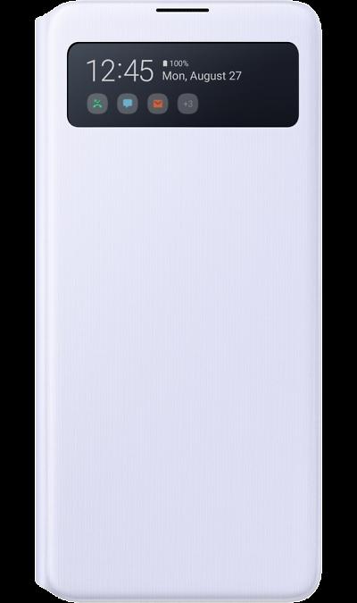 Чехол-книжка Samsung S View Wallet Cover EF-EN770PWEGRU для Galaxy Note 10 Lite, полиуретан, белый фото