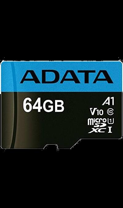 Карта памяти ADATA MicroSD XC 64 ГБ class 10