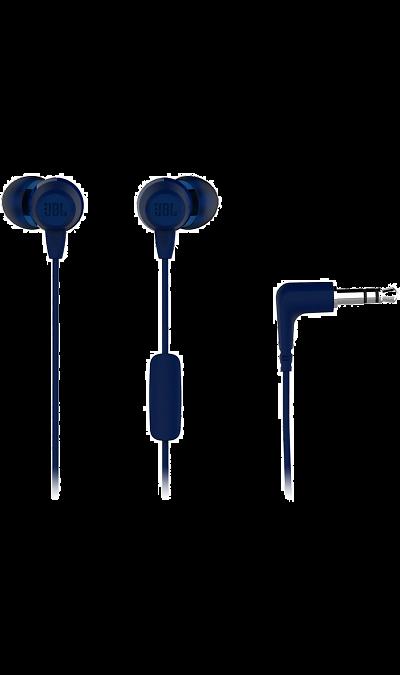 Проводная гарнитура JBL C50HI (синяя)