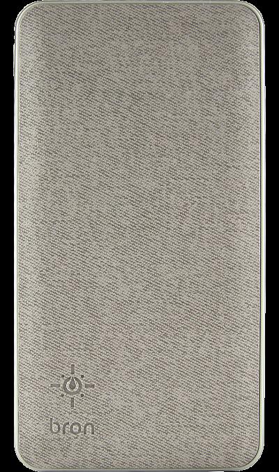 Аккумулятор Bron G1000L-PD, Li-Pol, 10000 мАч, серый фото