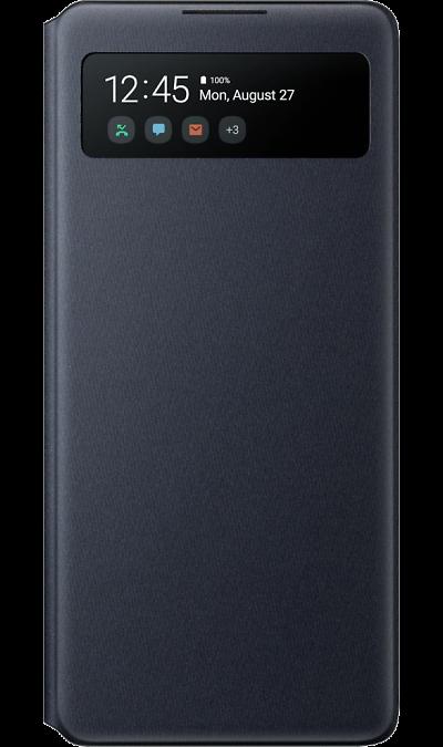 Чехол-книжка Samsung EF-EG770PBEGRU S View Wallet Cover для Galaxy S10 Lite, полиуретан, черный фото
