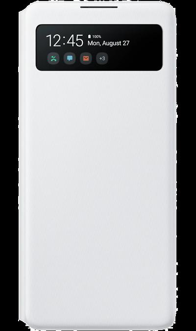 Чехол-книжка Samsung EF-EG770PWEGRU S View Wallet Cover для Galaxy S10 Lite, полиуретан, белый фото