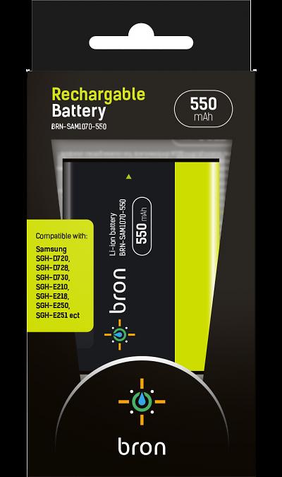 Аккумулятор Bron для Samsung BRN-SAM1070-550, Li-Ion, черный фото