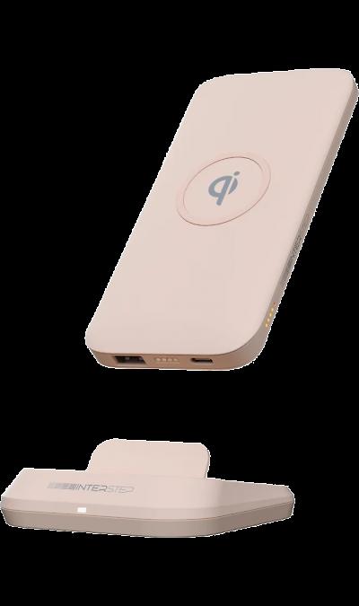 Аккумулятор InterStep PB10DQIPD, Li-Pol, 10000 мАч, розовый