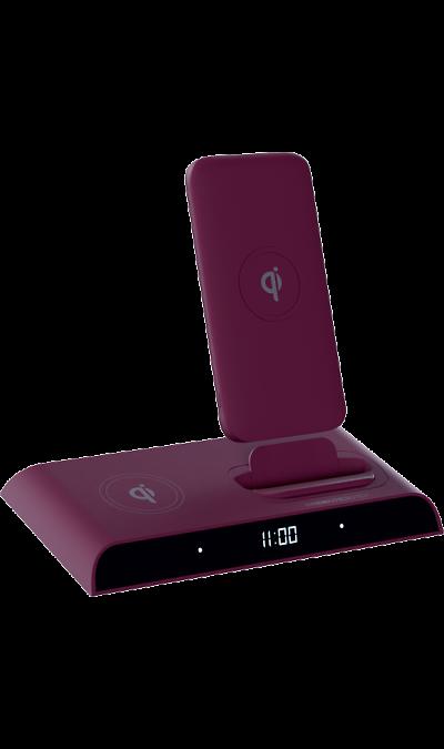Аккумулятор InterStep PB10DQI PRO, Li-Pol, 10000 мАч, бордовый