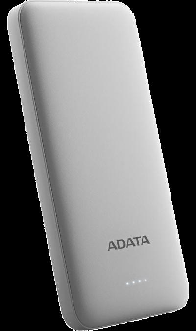 Аккумулятор ADATA T10000, Li-Ion, 10000 мАч, белый