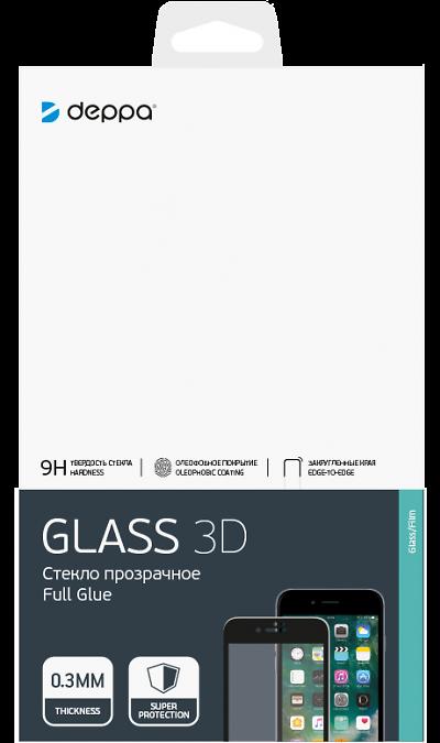 Защитное стекло Deppa для Huawei P40 Lite 3D Full Glue (черная рамка)