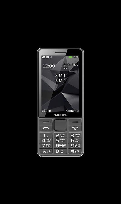 Телефон Texet TM-D324 Gray