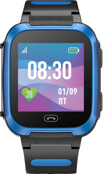 Детские умные часы с GPS трекером Jet Kid Friend, Синий-черный