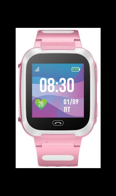 Детские умные часы с GPS трекером Jet Kid Friend, Белый-розовый