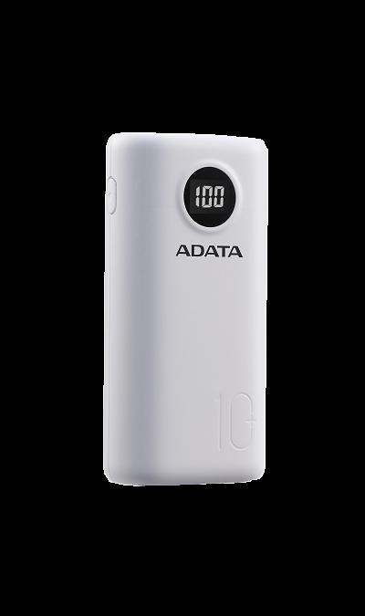 Аккумулятор ADATA P10000QCD, Li-Ion, 10000 мАч, белый