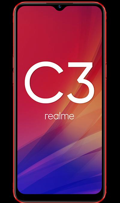 Смартфон realme C3 3/32GB Горячий красный