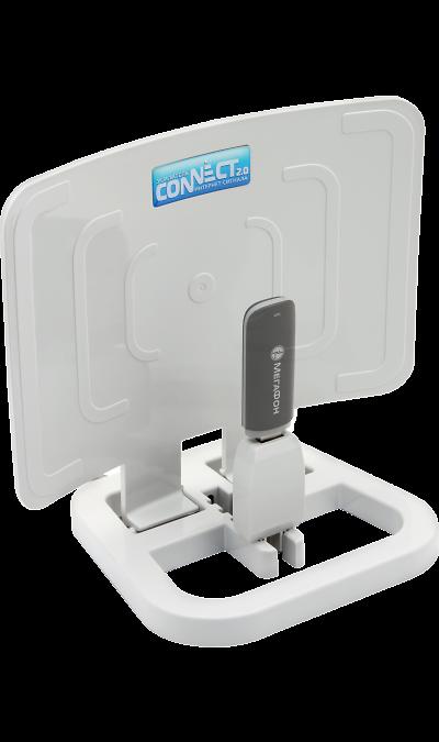 Усилитель сигнала для USB-модема РЭМО Connect 2.0Антенное оборудование<br>Усилитель интернет-сигнала РЭМО Connect 2.0 предназначен для обеспечения стабильного доступа в Интернет через USB-модемы в зонах неуверенного приема сигнала сетей GSM (GPRS/EDGE), 3G (HSDPA/HSUPA/WCDMA/HSPA+) и 4G (LTE/WiMax).<br>Конструкция устройства позволяет разместить модем в зоне максимального уровня сигнала сети, например, у окна, а также дополнительно усилить его (благодаря формированию диаграммы направленности). Используя устройство Connect 2.0 вы сможете комфортно ...<br>