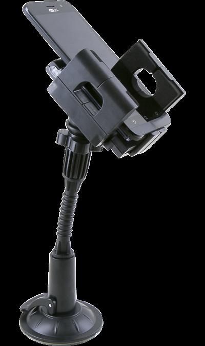 Держатель в автомобиль Fly XP-DДержатели<br>Автомобильный держатель для портативных устройств. Наилучшим образом подходит для мобильных телефонов, смартфонов, коммуникаторов, КПК, GPS приемников и мультимедиа проигрывателей. Держатель может крепиться как к вентиляционому отверстию, так и на лобовое стекло при помощи гибкого удлинителя с поворотным 3D шарниром и присоской диаметром 80 мм.<br>