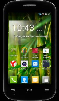 Смартфон МегаФон Optima (черный) + опция