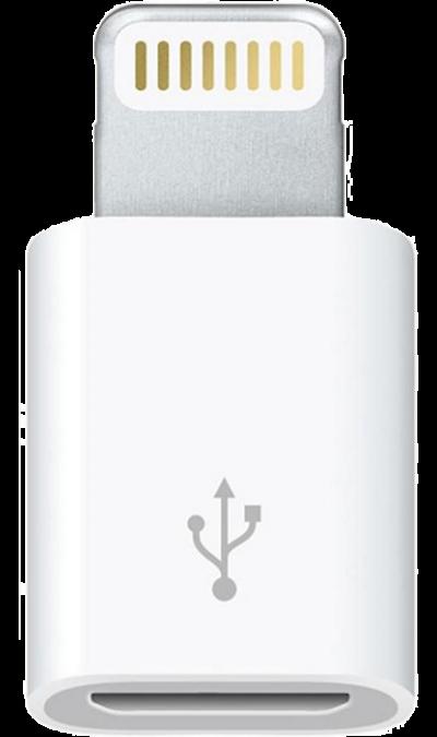 Адаптер Apple (Lightning/MicroUSB)Кабели и адаптеры<br>Адаптер Lightning/MicroUSB позволяет подключать iPhone, iPad или iPod с разъёмом Lightning к кабелям и зарядным устройствам MicroUSB для подзарядки и синхронизации устройств. Невероятно компактный и прочный<br><br>Colour: Белый