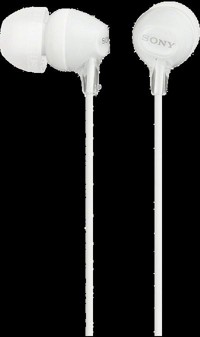 Наушники Sony MDR-EX15LP, стерео (белые)Наушники и гарнитуры<br>Яркие наушники, которые обеспечивают высококачественные низкие частоты и надежно держатся в ухе.<br><br>Colour: Белый