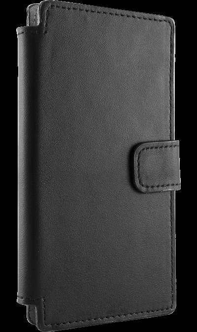 Чехол-книжка OxyFashion универсальный 4, поликарбонат / полиуретан, черныйЧехлы и сумочки<br>Универсальный чехол-книжка для устройств с диагональю корпуса 4 дюйма. Придаст индивидуальность Вашему смартфону и защитит его от царапин и потертостей. Способ крепления- липкая поверхность.<br><br>Colour: Черный