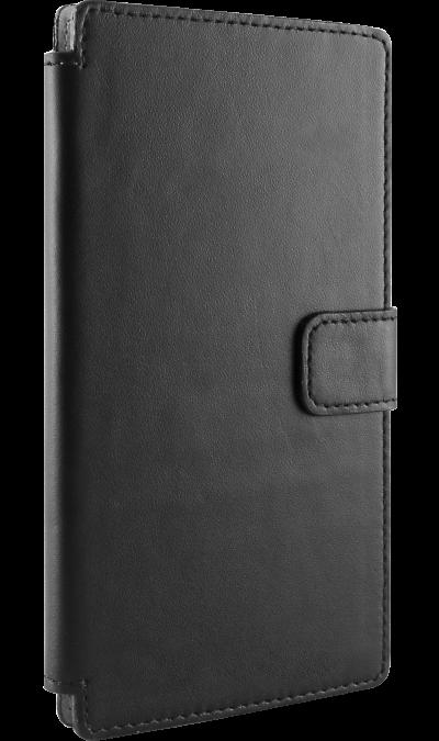 OxyFashion Чехол-книжка OxyFashion универсальный 5, кожа, черный чехол для муха iq446 кожа iq446 роскошь полиуретан открытая вверх и пуховик черный белый розовый цвет