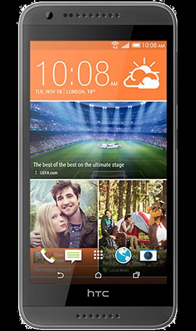 HTC Desire 620GСмартфоны<br>2G, 3G, Wi-Fi; ОС Android; Дисплей сенсорный емкостный 16,7 млн цв. 5; Камера 8 Mpix, AF; Разъем для карт памяти; MP3, FM,  GPS; Время работы 617 ч. / 12.0 ч.; Вес 145 г.<br><br>Colour: Серый