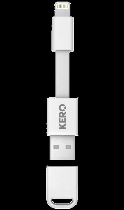 KERO Кабель KERO USB - Lightning  (белый) яблока mfi lightning для usb дата кабель зарядного устройства разъем usb для андроида ф цвета