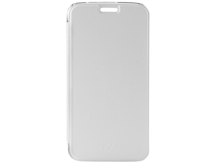 Чехол-книжка Cellular Line для Samsung Galaxy S6 Edge G925, кожзам / пластик, белый