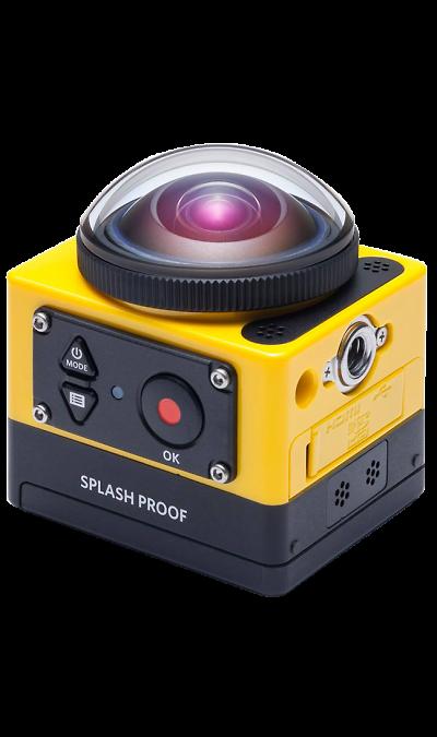 Kodak SP360Фото и видео<br>С помощью Kodak PixPro SP360 вы сможете увидеть окружающий вас мир в совершенно ином свете. Данная камера предназначена для куда больших целей, чем просто фотографирование. Теперь вы сможете снимать 360-градусное видео в высоком разрешении, не нуждаясь в нескольких камерах. 16 мегапикселей в сочетании со светосильной линзой f/2.8 дают потрясающее качество изображения, а скорость съемки до 120 кадров сохранит все детали моментов, от которых захватывает ...<br><br>Colour: Желтый