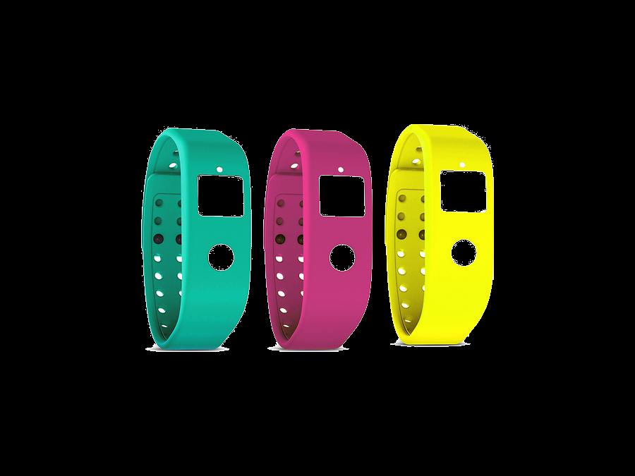 Комплект ремней Runtastic RUNORST3 для Orbit желтый, розовый, зеленый