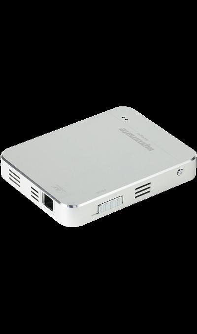 Promate ScopeДругие устройства<br>Scope- карманного размера инновационный проектор с двумя входами HDMI/MHL, позволяющий с легкостью носить с собой 50 дюймовый экран. Супер яркая DLP LED лампа проектора способна выдавать яркость до 50 люмен. Встроенный заряжаемый аккумулятор емкостью 2800 mAh позволяет работать устройству без подзарядки до 2 часов и также он может выступать в качестве резервной батареи для смартфона. Этот инновационный прибор позволяет проецировать изображения или любой другой контент с любого совместимого ...<br><br>Colour: Серебристый
