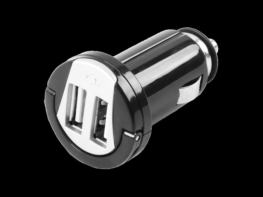 Зарядное устройство автомобильное Cellular Line USB CAR CHARGER DUAL 2А (c 2 разъемами USB)