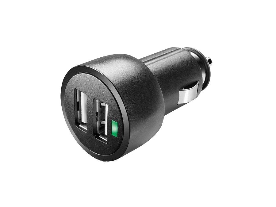 Зарядное устройство автомобильное Cellular Line USB CAR CHARGER DUAL ULTRA 3,1А (c 2 разъемами USB)