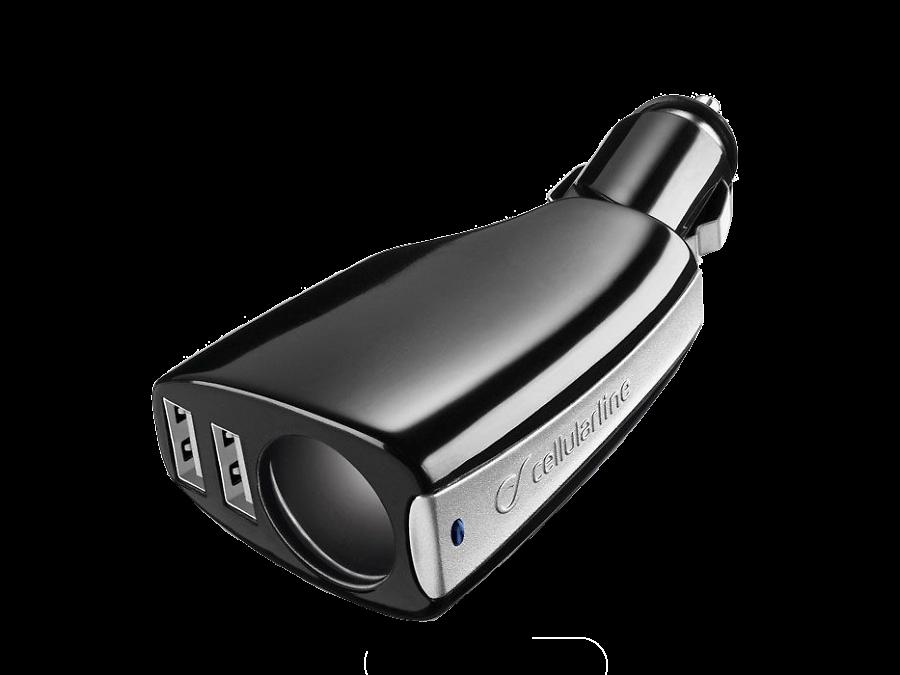 Cellular Line Зарядное устройство автомобильное Cellular Line CAR TRIPLE POWER (2 USB разъема +прикуриватель ) cellular line car charger dual ultra автомобильное зарядное устройство 20326