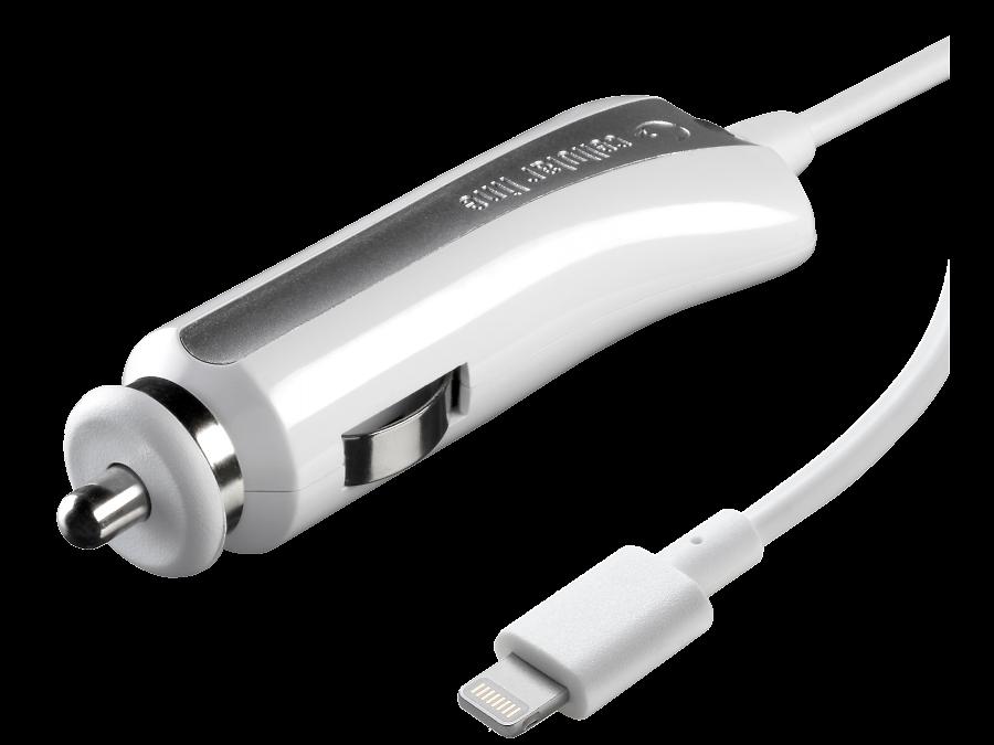 Зарядное устройство автомобильное Cellular Line CAR CHARGER 1А (с разъемом Lightning)