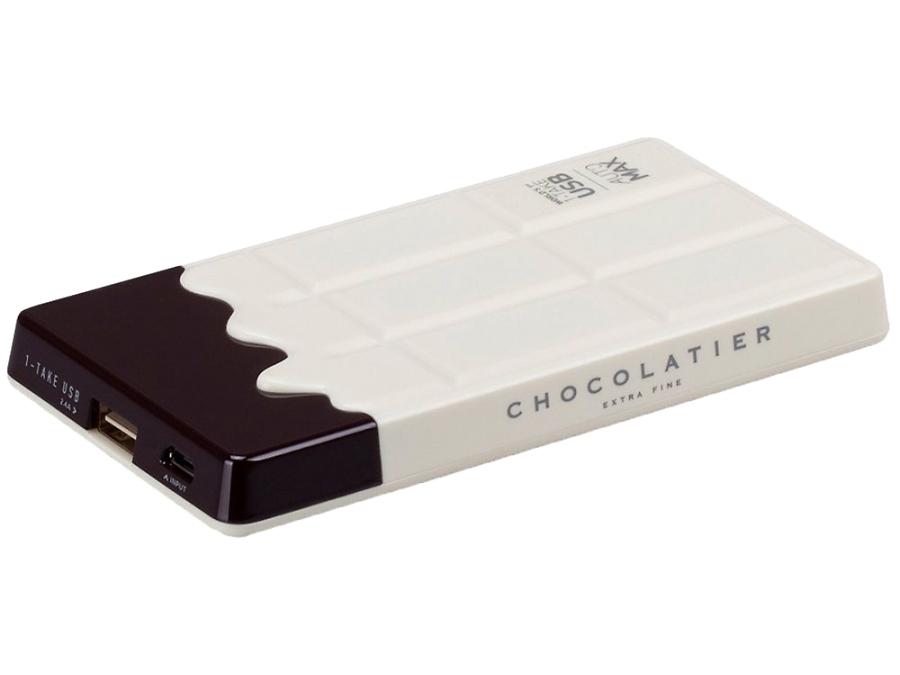 Аккумулятор Momax iPower Chocolatier, Li-Ion, 7000 мАч, белый (портативный)