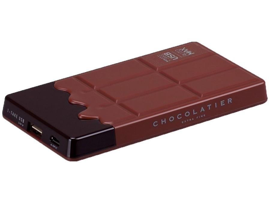 Аккумулятор Momax iPower Chocolatier, Li-Ion, 7000 мАч, коричневый (портативный)