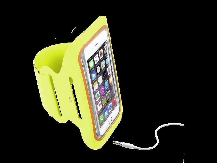 Cellular Line Чехол спортивный Cellular Line Armband Fitness до 5,2'', ткань, желтый cellular line spvanityiphone5