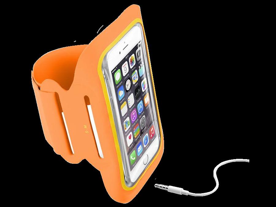 Cellular Line Чехол спортивный Cellular Line Armband Fitness до 5,2'', ткань, оранжевый cellular line spvanityiphone5