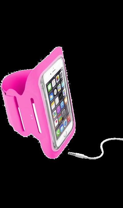 Чехол спортивный Cellular Line Armband Fitness до 5,2, ткань, розовыйЧехлы и сумочки<br>Чехол Cellular Line отличается легкостью, эластичным дизайном с защитной конструкцией из неопрена. Эргономично спроектирован для максимального комфорта во время ваших тренировок!<br>Безопасность превыше всего:<br>Свободные руки во время тренировки.<br>Легкий в использовании:<br>Полноценное использование экрана сквозь прозрачное, защитное окно.<br>Практичное удобство:<br>Система подключения наушников.<br>Регулируемый нарукавный ремень.<br><br>Colour: Розовый