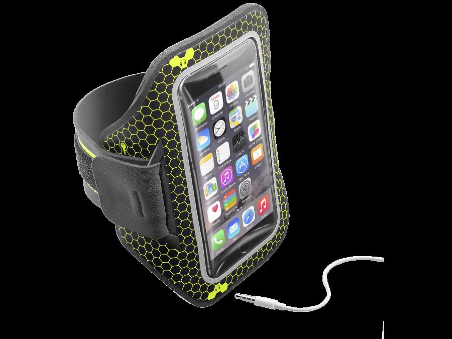 Cellular Line Чехол спортивный Cellular Line Armband Running до 5,2'', ткань, черный cellular line spvanityiphone5