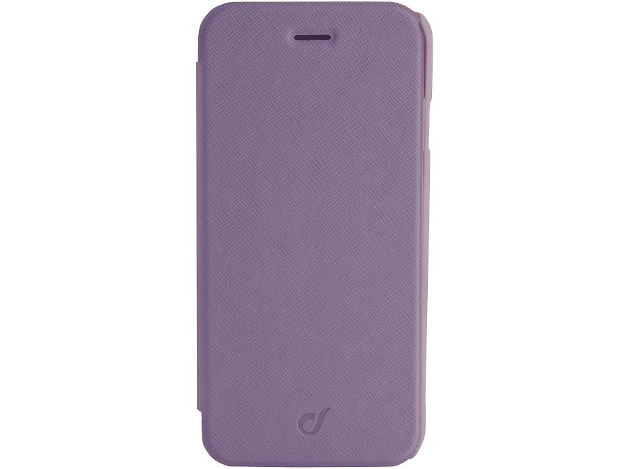 Чехол-книжка Cellular Line BOOK COLOR для iPhone 6, кожзам / пластик, фиолетовый