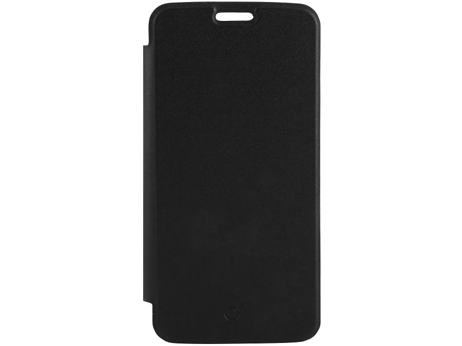 Чехол-книжка Cellular Line Clear Book для Samsung Galaxy S6, кожзам / пластик, черный