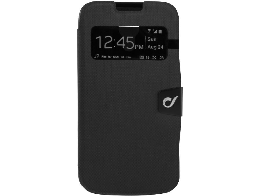 Чехол-книжка Cellular Line Book ID для Samsung Galaxy S4mini, кожзам / пластик, черный
