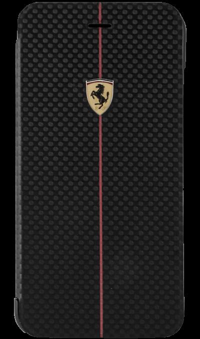 Чехол-книжка Ferrari FEFOCFLBKP6LBL для Apple iPhone 6 Plus, карбон, черныйЧехлы и сумочки<br>Чехол Ferrari  поможет не только защитить ваш iPhone 6 Plus от повреждений, но и сделает обращение с ним более удобным, а сам аппарат будет выглядеть еще более элегантным.<br><br>Colour: Черный