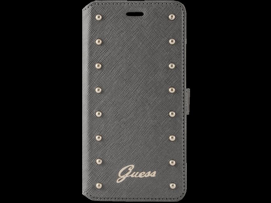 Чехол-книжка Guess для Apple iPhone 6 Plus, кожзам / пластик, серебристый