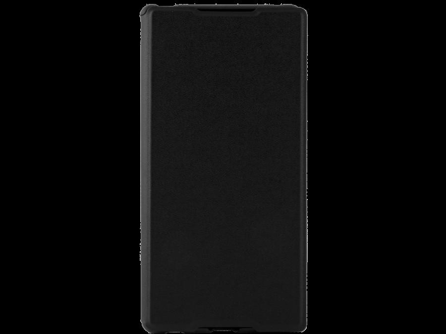 Чехол-книжка Muvit SEEAF0026 для Sony Xperia M4 Aqua, поликарбонат / полиуретан, черный